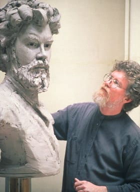 Kinzey Branham, sculptor of portraits